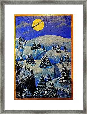 Christmas In Connecticut Framed Print by Joe Kopler