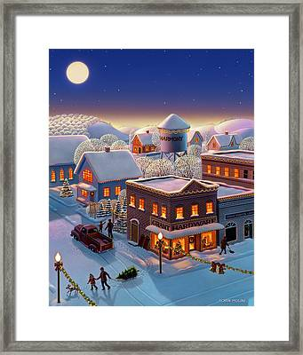 Christmas In Harmony Framed Print by Robin Moline