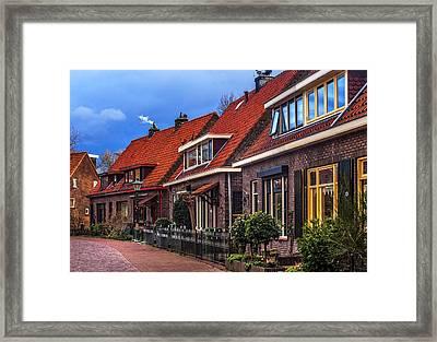 Christmas In Hoogvliet. Holland Framed Print by Jenny Rainbow