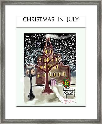 Christmas In July Framed Print