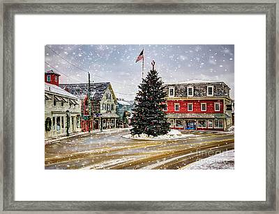 Christmas In Kennebunkport Framed Print