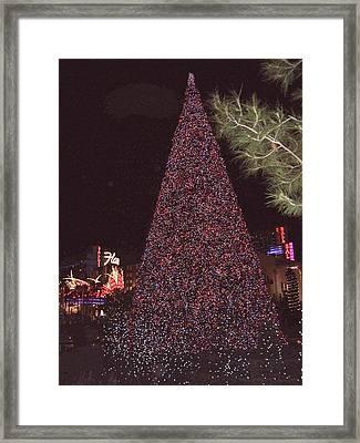 Christmas In Las Vegas Framed Print
