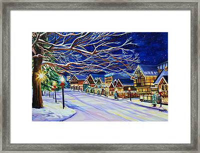 Christmas In Leavenworth Framed Print by Suzanne King