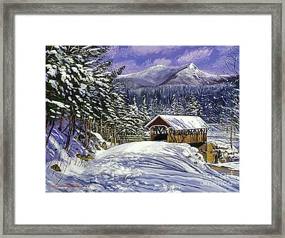 Christmas In New England Framed Print by David Lloyd Glover