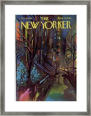 Christmas In New York Framed Print by Arthur Getz