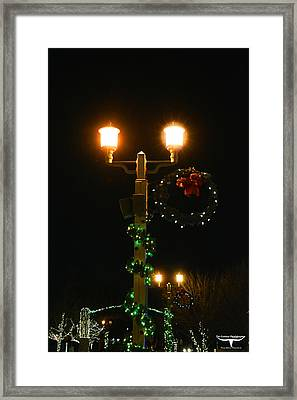 Christmas In Old Town Temecula 2 Framed Print