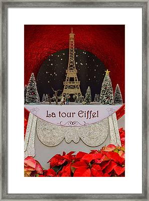 Christmas In Paris Framed Print by Zina Stromberg