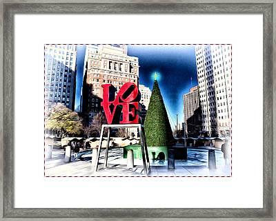 Christmas In Philadelphia Framed Print by Bill Cannon