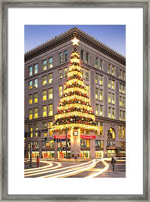Christmas In Pittsburgh  Framed Print by Emmanuel Panagiotakis