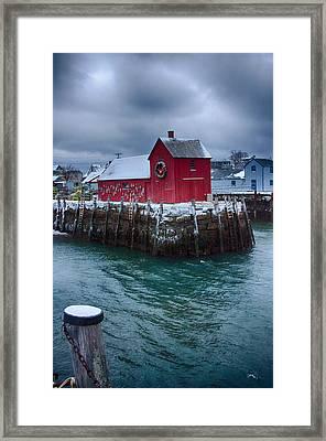 Christmas In Rockport Massachusetts Framed Print by Jeff Folger