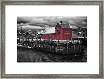 Christmas In Rockport New England Framed Print