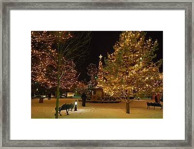Christmas In Santa Fe Framed Print by Carolyn Dalessandro