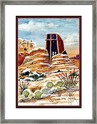 Christmas In Sedona Framed Print