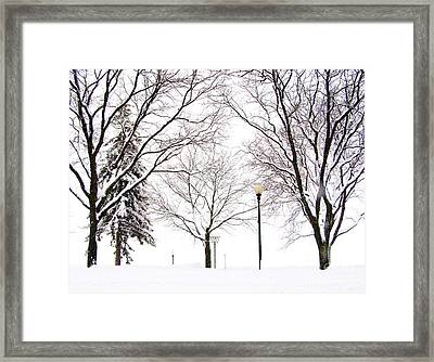 Framed Print featuring the photograph Christmas In Skaneateles by Margie Amberge