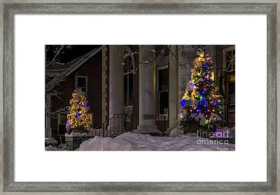 Christmas In Stowe Vermont. Framed Print