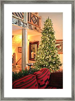 Framed Print featuring the photograph Christmas In The Adirondacks by Ann Murphy
