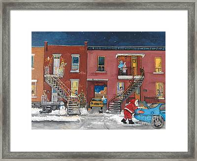 Christmas In The City Framed Print by Reb Frost