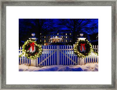 Christmas In The Country Framed Print by James Kirkikis