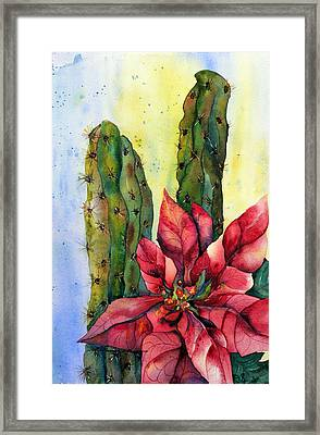 Christmas In The Desert Framed Print