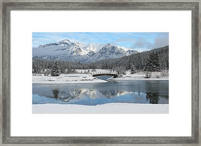 Christmas In The Rockies Framed Print
