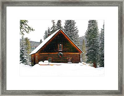 Christmas In The Rockies Framed Print by Steven Reed