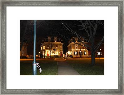 Christmas In Town Framed Print