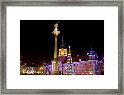 Christmas In Warsaw Framed Print by Artur Bogacki