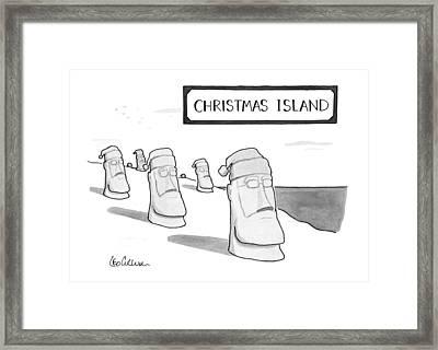 Christmas Island Framed Print