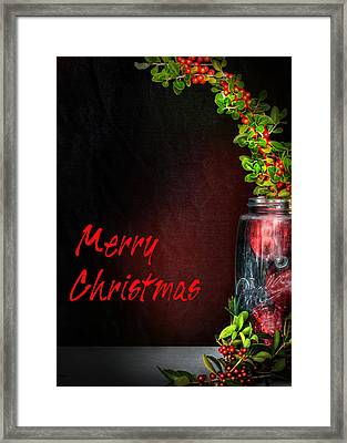 Christmas Jar Framed Print by David and Carol Kelly