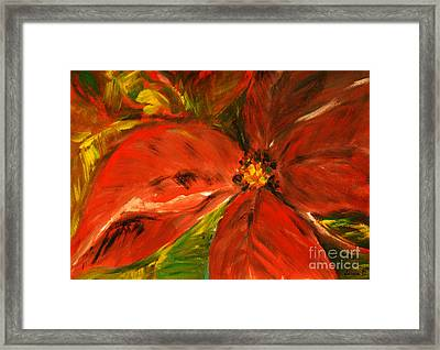 Framed Print featuring the painting Christmas Star by Jasna Dragun