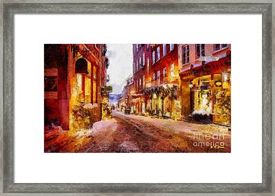 Christmas Lane Framed Print by Elizabeth Coats