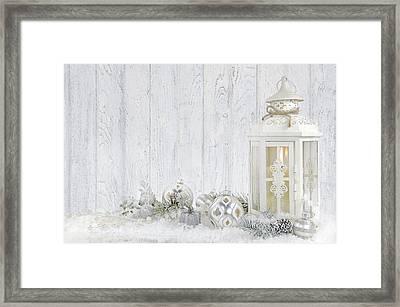 Christmas Lantern Framed Print