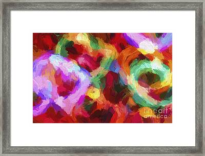 Christmas Light Abstract Framed Print by Darren Fisher