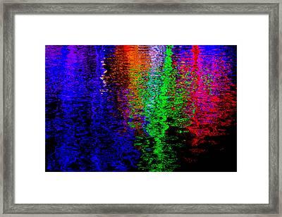 Christmas Light Reflection Framed Print by John Roberts