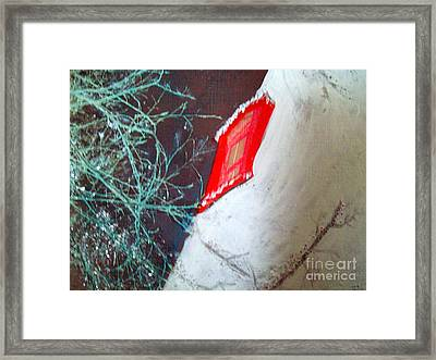 Christmas Lighthouse Love Framed Print by Jackie Bodnar