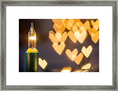 Framed Print featuring the photograph Christmas Lights. by Gary Gillette