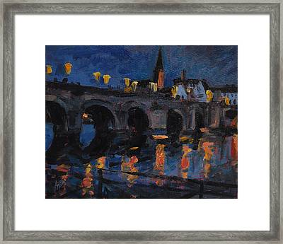 Christmas Lights Maastricht Framed Print