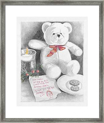 Christmas List Framed Print