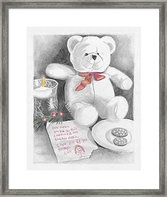Christmas List Framed Print by Susan Schmitz