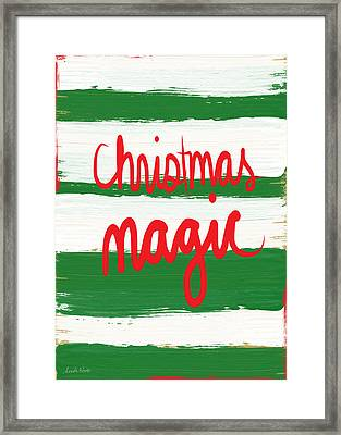 Christmas Magic - Greeting Card Framed Print by Linda Woods