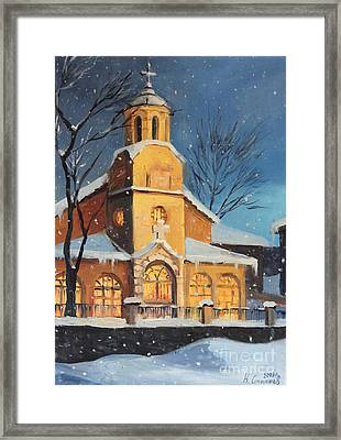Christmas Magic In The Mountain Framed Print by Kiril Stanchev