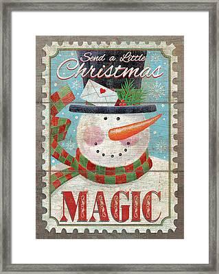 Christmas Magic Framed Print by P.s. Art Studios