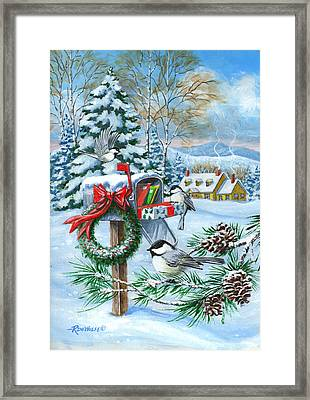 Christmas Mail Framed Print by Richard De Wolfe