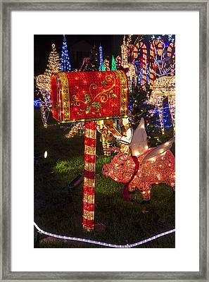 Christmas Mailbox Framed Print by Garry Gay