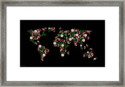 Christmas Map Framed Print by Mark Ashkenazi