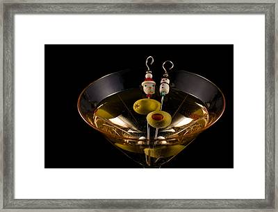 Christmas Martini Framed Print by Ron White