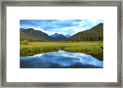 Christmas Meadows In The Uinta Mountains. Framed Print