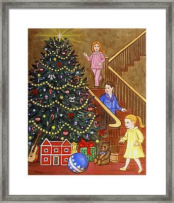 Christmas Morning Framed Print by Linda Mears