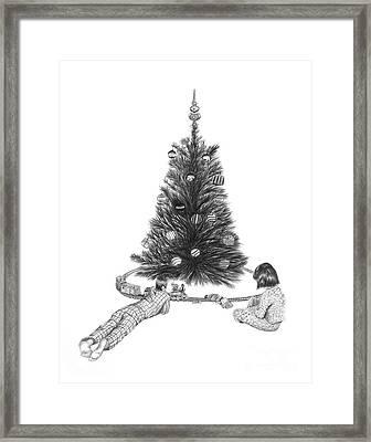 Christmas Morning Play  Framed Print by Peter Piatt