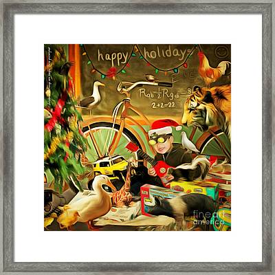 Christmas Mornings Are Magic 20140923 Square Framed Print